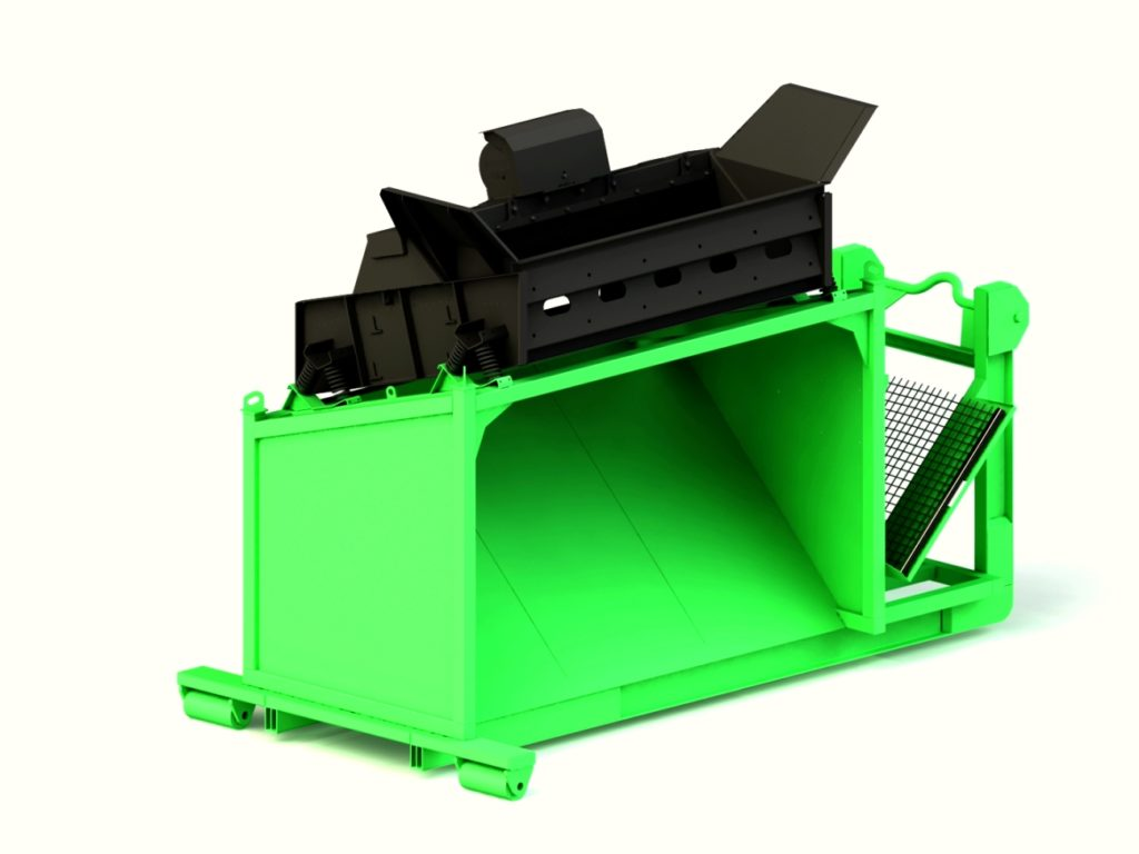 Siebanlage | Flachdecksiebanlage | Recyclingsieb