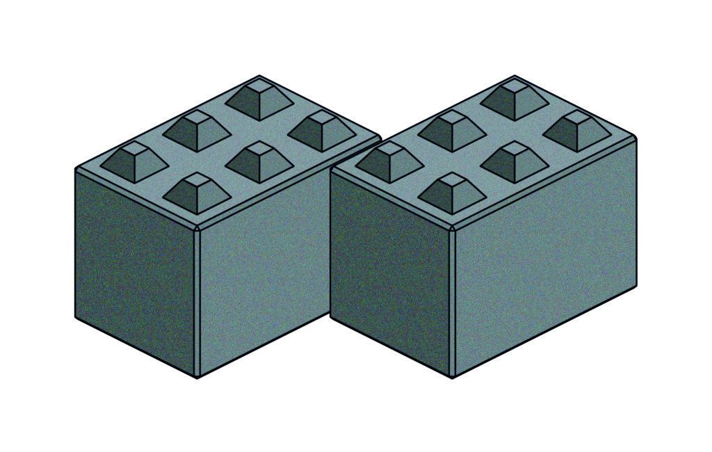 Legoform Beton   Betonblock L1866